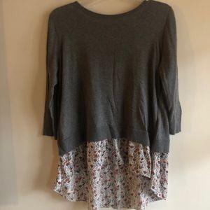 Loft layered top - sweater & blouse